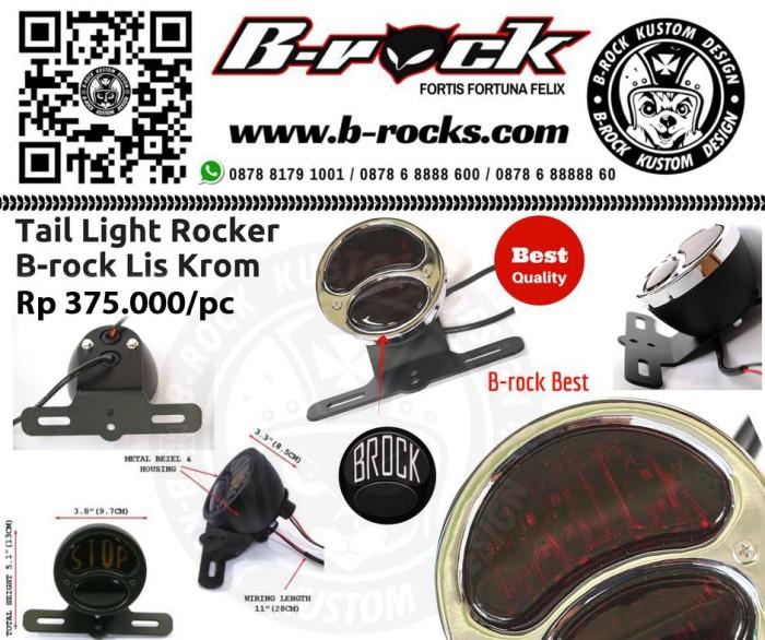 harga Stoplamp custom japstyle cafracer  rocker b-rock list krom Tokopedia.com