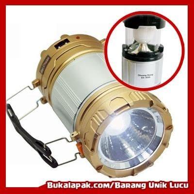 Lampu Camping / Emergency Senter LED/ Lentera Tarik Solar + Power BanK