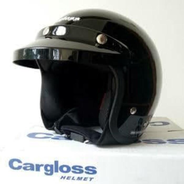 harga Helm cargloss carglos hitam black metalik glossy retro bogo Tokopedia.com