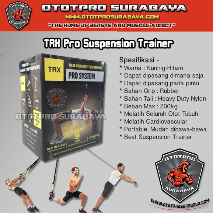 harga trx p3 professional suspension training/force/fitness/fitnes/gym/alat Tokopedia.com
