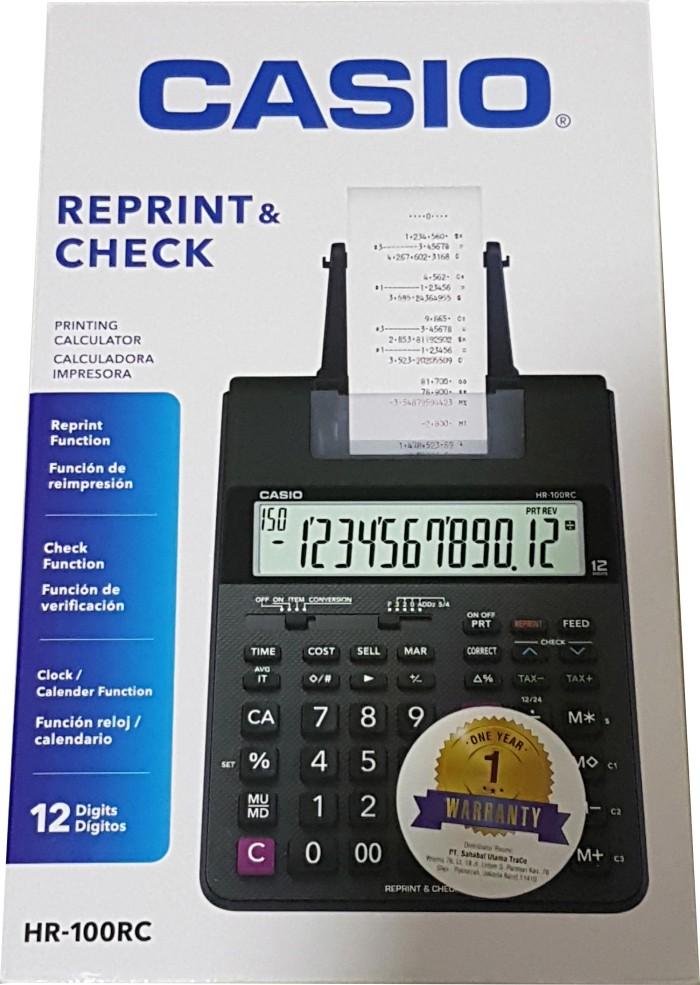 harga Casio hr 100 rc kalkulator print struk / casio hr 100 rc Tokopedia.com