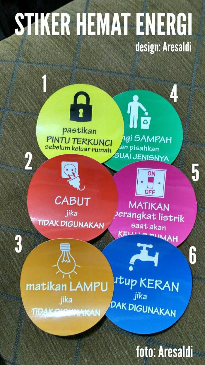 Jual Sticker Safe Energy Stiker Hemat Energi Listrik Air Lampu Sampah Kota Tangerang Aresaldi Shop Tokopedia