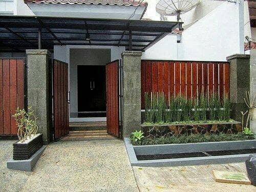 Jual Pagar Besi Conwood Minimalis Kota Tangerang Selatan Kharismatex Tokopedia