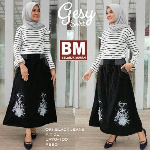 ... maxi payung panjang wanita jumbo long skirt Shapira. Source · Rok Panjang Wanita Jeans Gesy Skirt .
