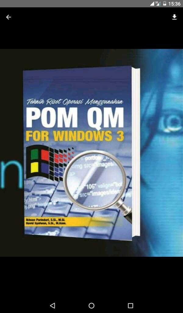 harga Teknik riset operasi menggunakan pom qm for windows 3 Tokopedia.com