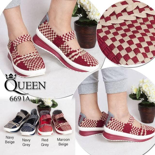 harga Sepatu queen 6691a wedges Tokopedia.com