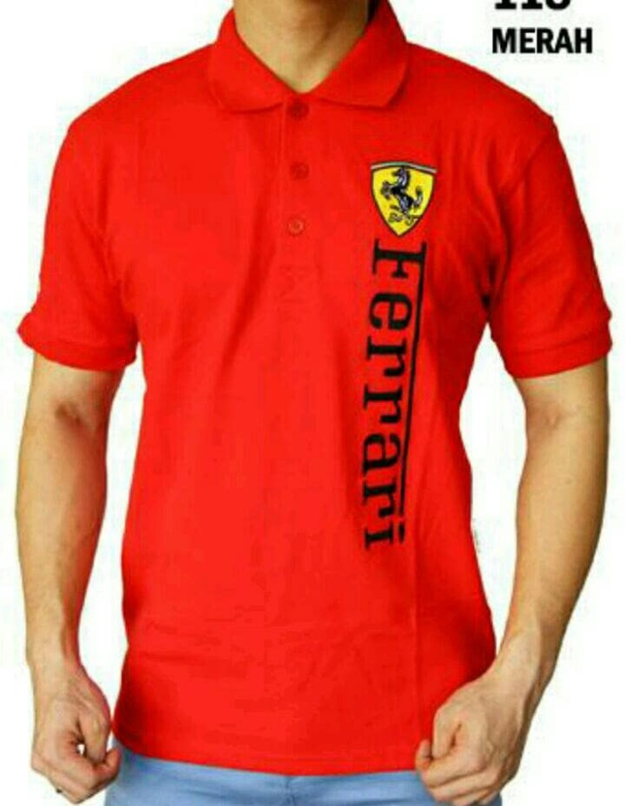 harga Polo shirt t shirt tshirt kaos kerah pria ferrari terlaris Tokopedia.com