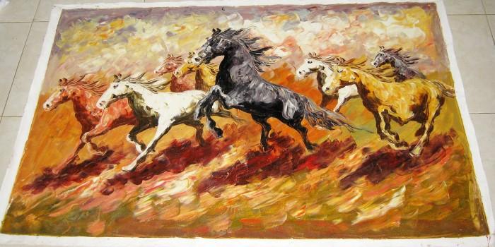 harga Lukisan feng shui 8 kuda sedang berlari: pembawa kerberhasilan Tokopedia.com