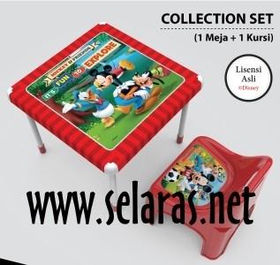 harga 1 meja dan 1 kursi anak plastik naiba mickey merah Tokopedia.com