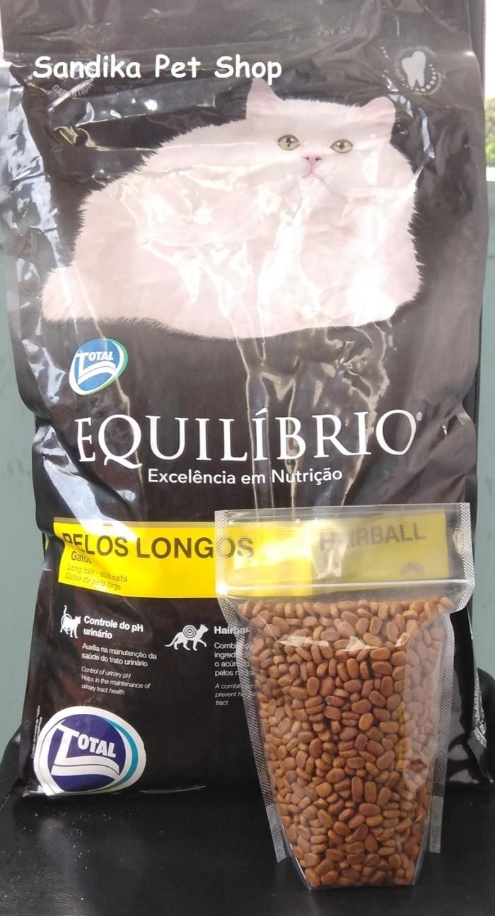 Cat Food Makanan Kucing Equilibrio Long Hair Repacking 500 Gram Maxi Repack Chicken And Tuna