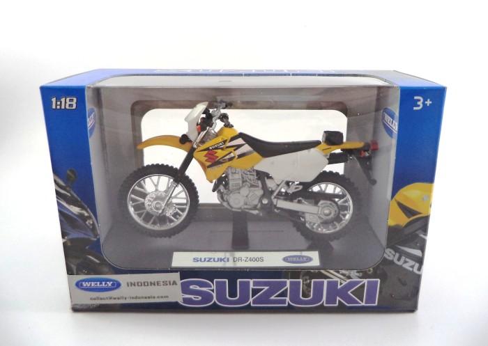 harga Diecast welly motor 1:18 suzuki dr-z400s yellow white Tokopedia.com