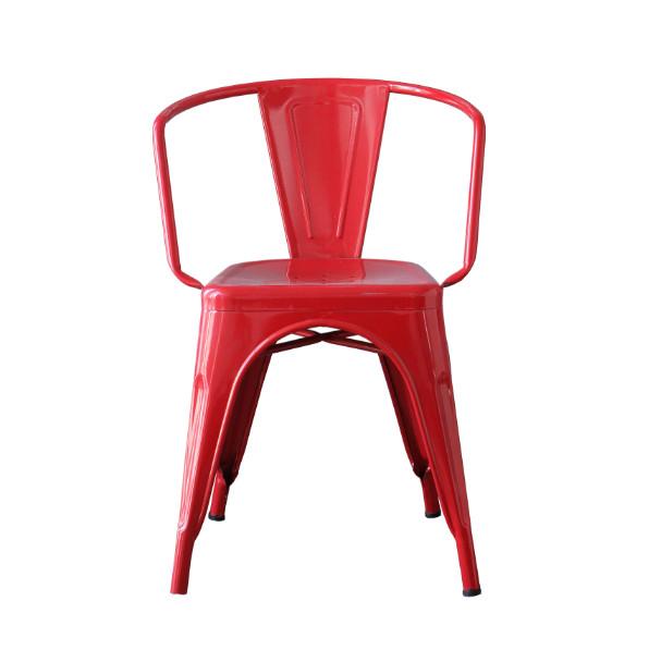 the olive house - kursi besi decafe merah