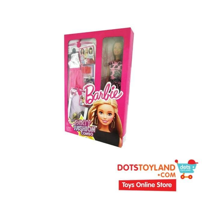 harga Barbie party fashion combo w/ pink dress doll - boneka barbie Tokopedia.com