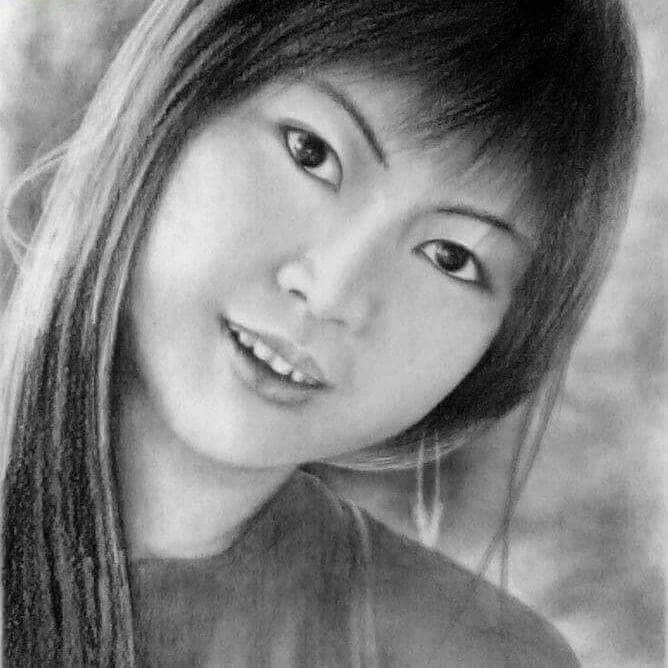 Jual Sketsa Wajah Face Sketch Seni Pensil Gambar Hitam Putih