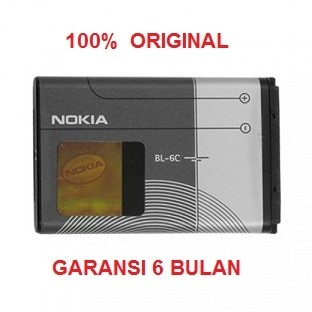 harga 100% original nokia battery bl-6c / n gage qd, e70, 6275i, 2115,dll Tokopedia.com