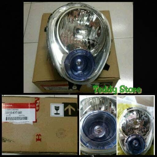 Lampu Depan Reflektor Headlight Honda Scoopy Karbu Karburator Old Ori
