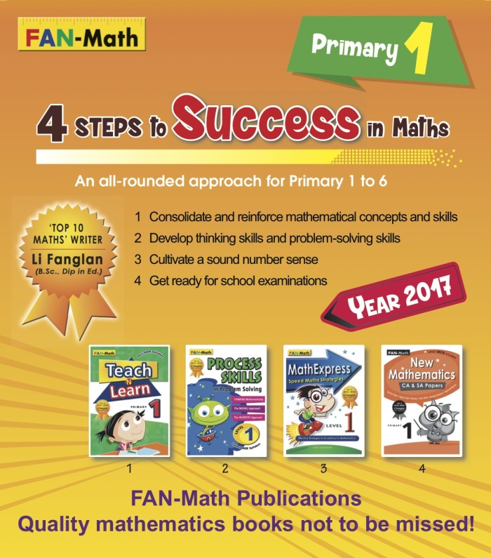 harga Fan-math primary 1 success in math pack 2017 Tokopedia.com