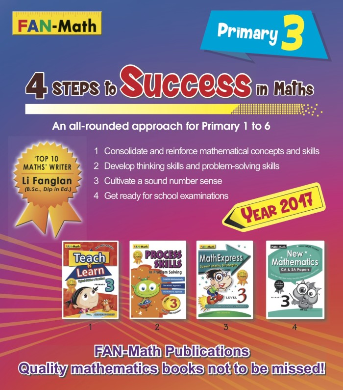 harga Fan-math primary 3 success in math pack 2017 Tokopedia.com