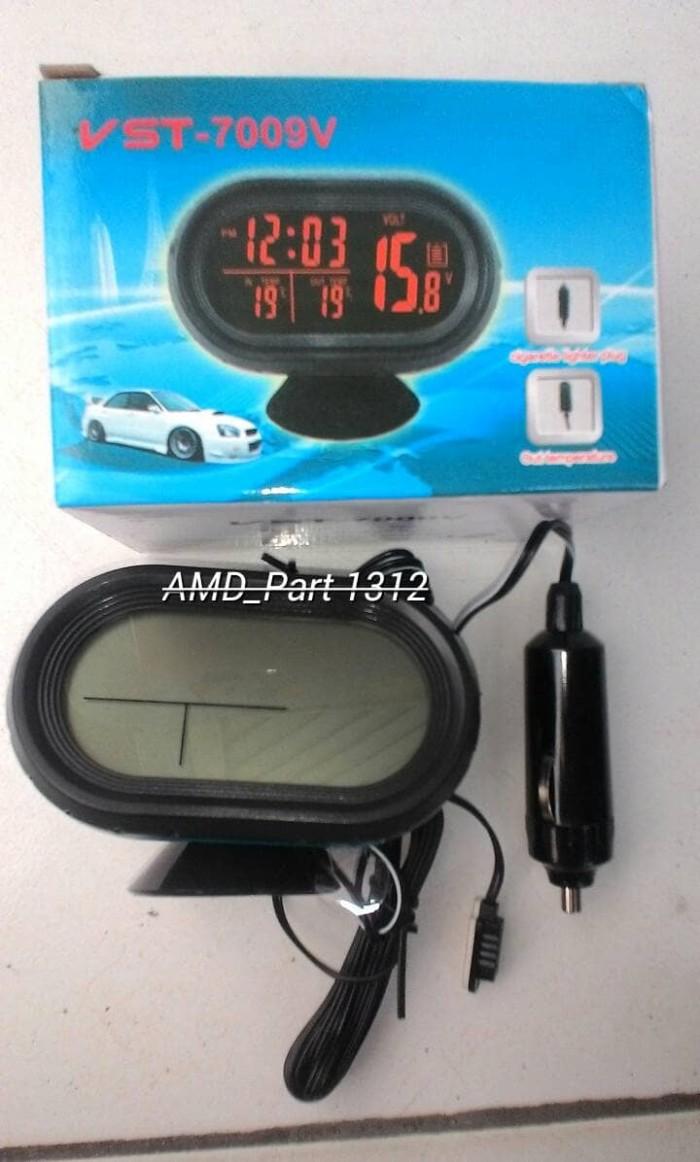 Led Voltmeter Digital 4in1 Jam Suhu 2 Backlight Hijau Mdl 038g 036 Dc 47v 32v Kabel Nyala Biru Vst