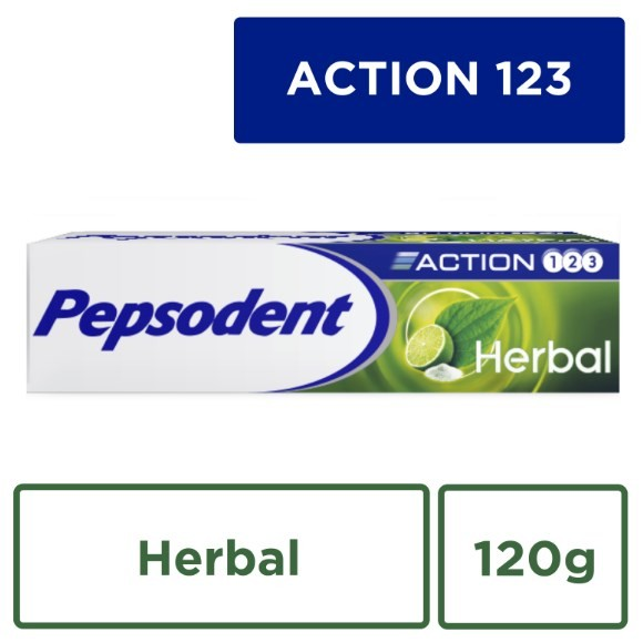 Jual Pepsodent Action 123 Pasta Gigi Herbal 120g - Unilever Official Store  - OS  f1216a58b2
