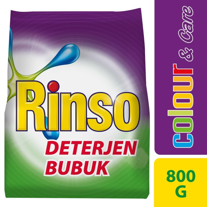 harga Rinso deterjen bubuk colour and care 800g Tokopedia.com
