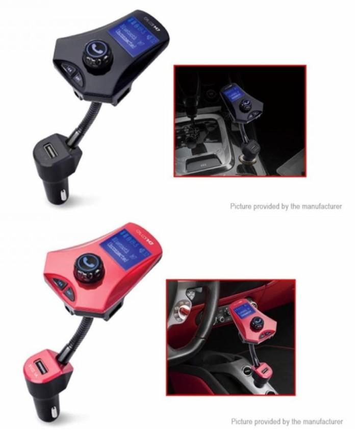harga M7 bluetooth hands free car kit car mp3 player fm transmitter dual usb Tokopedia.com
