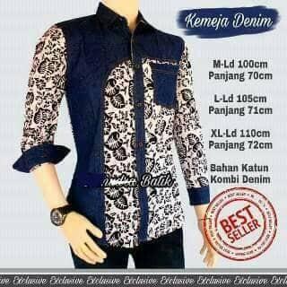 Slimfit Fashion Pria Jeans Muslim Koko. Source · Kemeja batik kombinasi jeans .