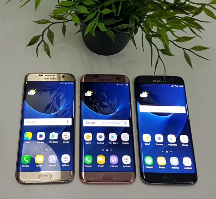 Samsung Galaxy S7 Edge 32GB Dual resmi sein like new - Hitam