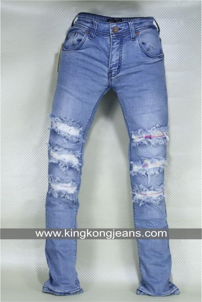 harga Celana jeans pria sobek dgn lapis dalam flane putih- men ripped jeans Tokopedia.com