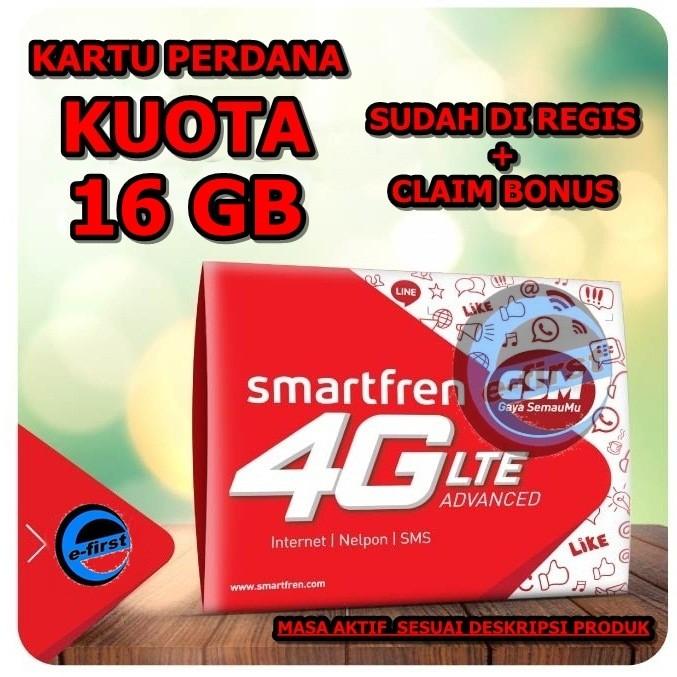 harga Kartu perdana internet smartfren 16gb kuota data 16 gb alternatf xl go Tokopedia.com