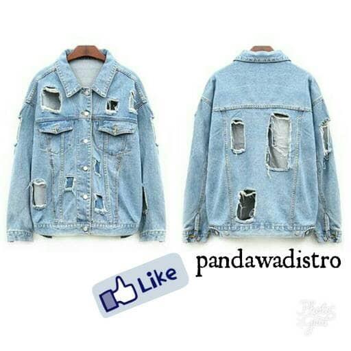 jaket jeans jaket levis model sobek pria wanita di jamin bagus