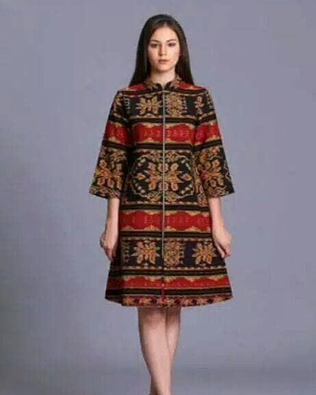 harga Long vest dress tenun blanket batik troso jepara Tokopedia.com