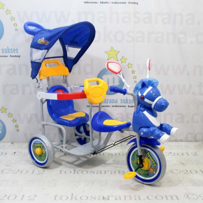 harga Jabodetabek go-send family f9061t kuda 2 kursi kanopi sepeda roda tiga Tokopedia.com