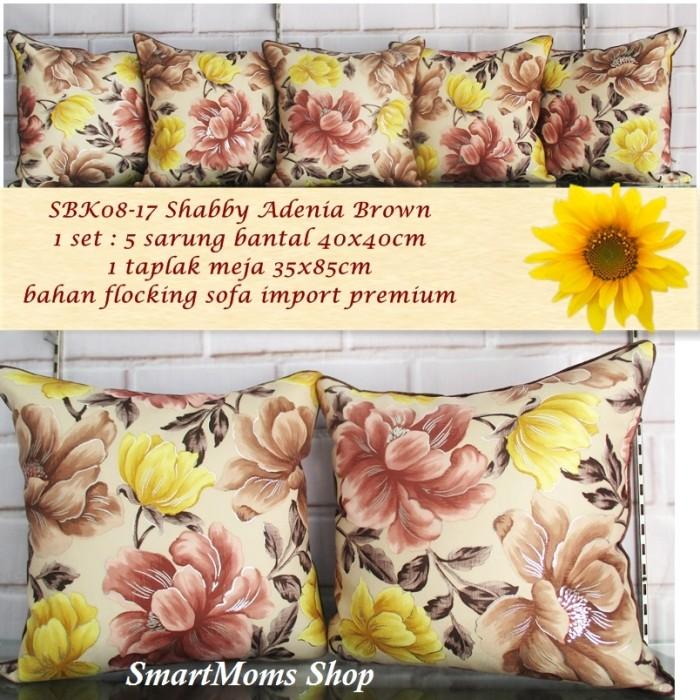 harga Sarung bantal sofa shabby / minimalis / kursi / adenia brown Tokopedia.com