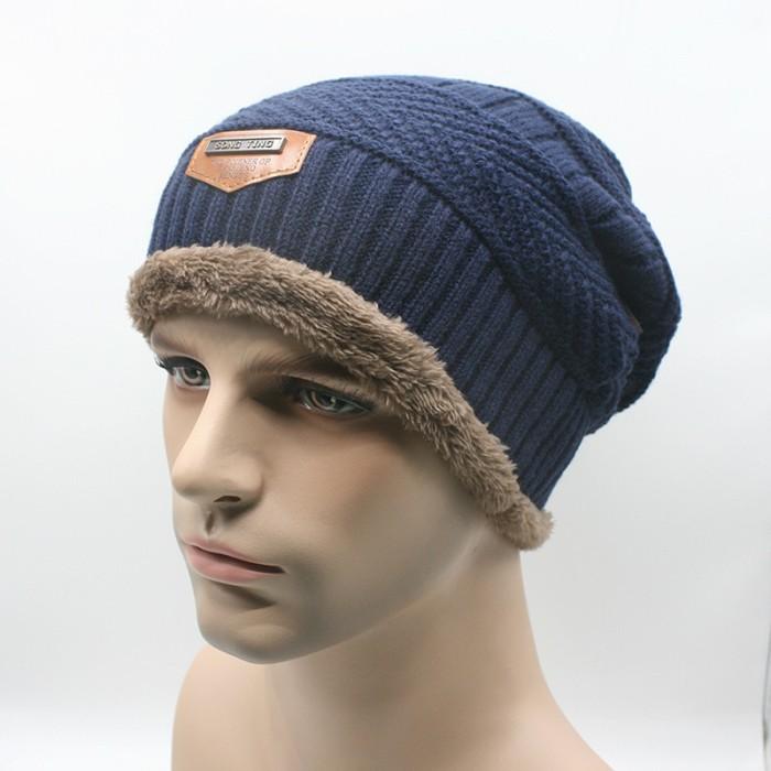 harga Kupluk wool winter hat beanie untuk pendakian warna biru Tokopedia.com