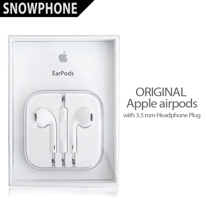 Jual HANDSFREE EARPOD ORIGINAL 100% FOR APPLE IPHONE IPOD IPAD ... 91272b6997
