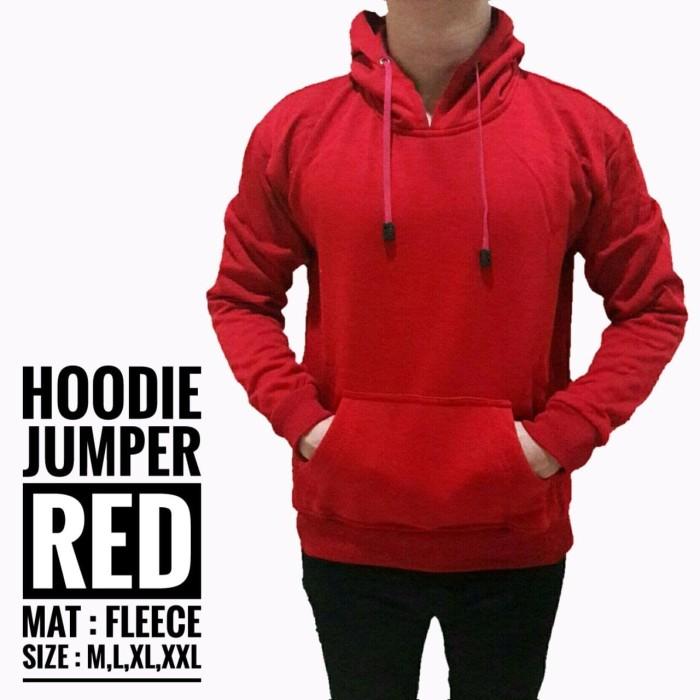 harga Jaket polos pria cowok hoodie jumper sweater merah hati keren gaul Tokopedia.com