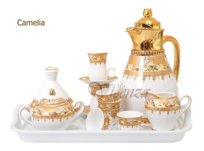 Foto Produk Tea Set Vacuum Flask Vicenza VF16 / perlengkapan minum teh panas 25pcs dari Untuk Rumahku