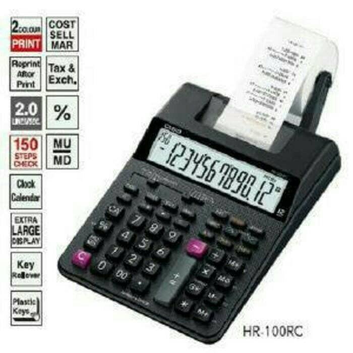 harga Paket casio hr-100tm - print kalkulator + adaptor Tokopedia.com