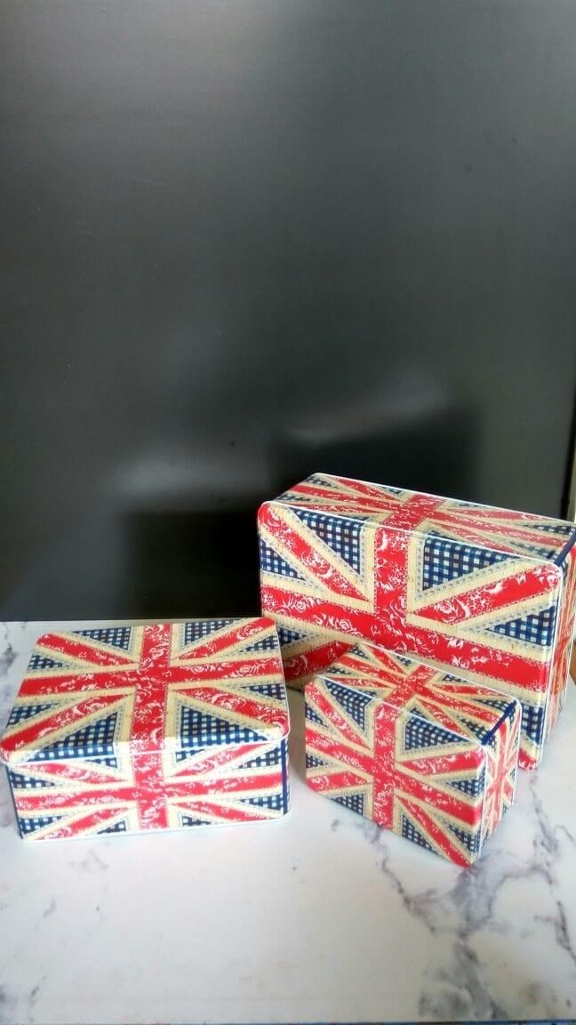 harga Kaleng motif britain  (1 set )/tin/toples/storage/tempat penyimpanan Tokopedia.com
