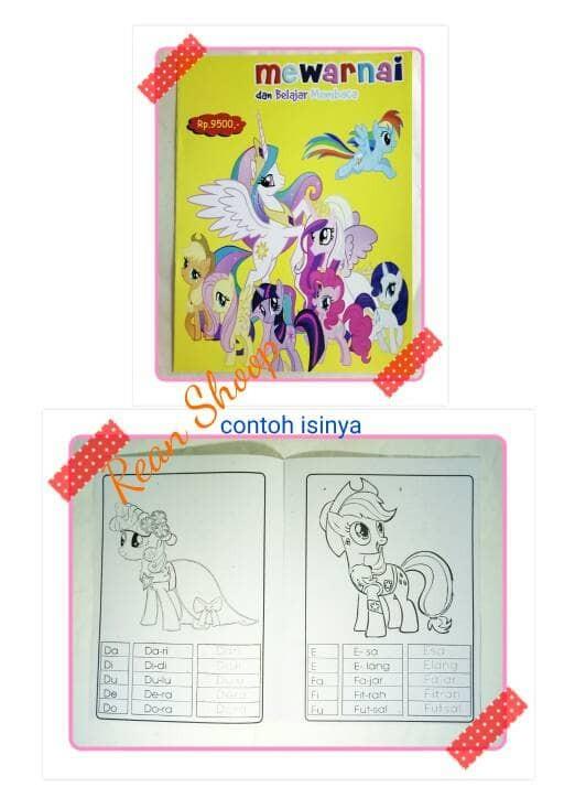 Jual Buku Mewarnai Colouring Dan Belajar Membaca Karakter Kuda Poni