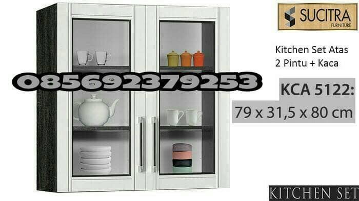 Jual Kitchen Set Atas Lemari Gantung Sucitra 2 Pintu Kaca