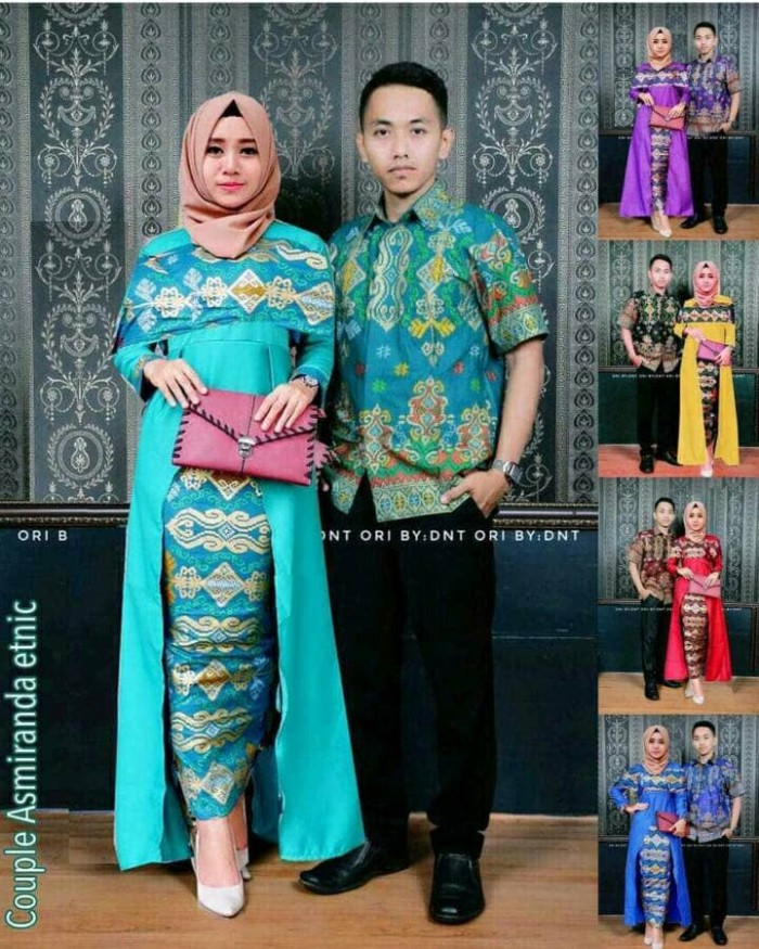 harga Batik couple gamis longcardi asmiranda etnic Tokopedia.com