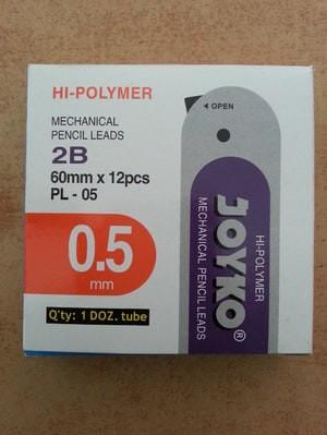 Foto Produk GROSIR!!! JOYKO PL-05 Isi Pensil Mekanik 2B 0.5 MECHANICAL PENCIL LEAD dari Paper Shop Jkt