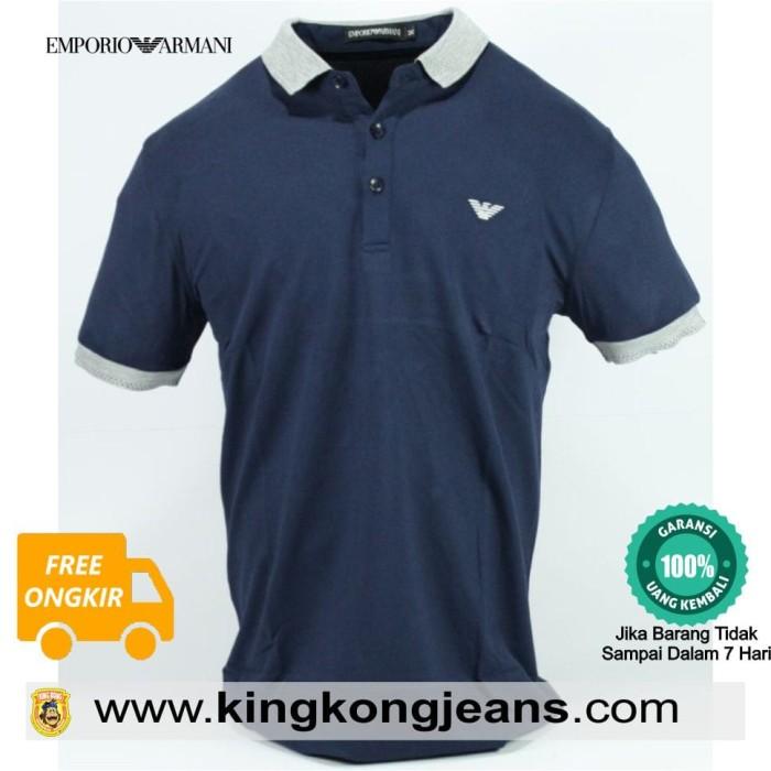 harga Kaos Kerah Pria Impor Armani Biru Navy /polo Shirt Import Armani Tokopedia.com