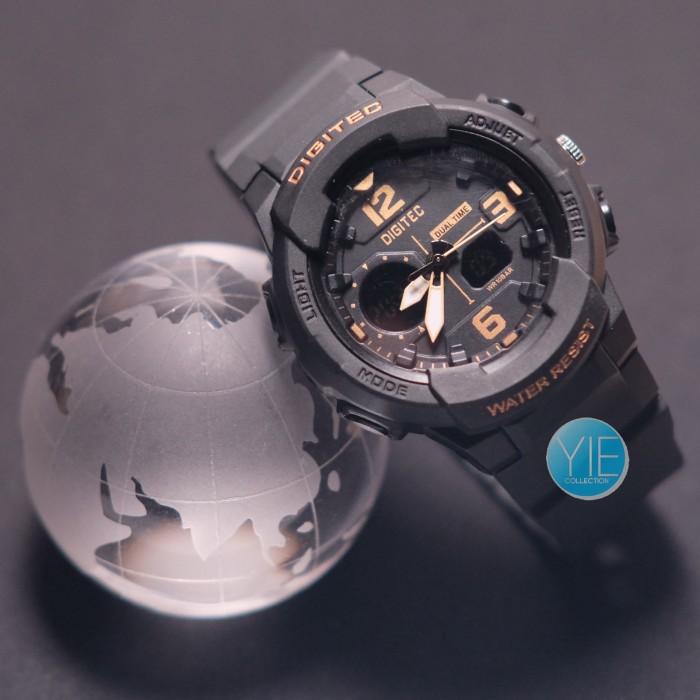 Jam Tangan Wanita Digitec Dual Time DG 2111 T Original - Hitam Emas .