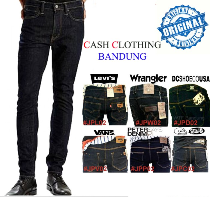 Foto Produk Celana Jeans DC WRANGLER LEVIS VANS PSD CHEAP MONDAY Pensil dari Turtle Clothing Bandung