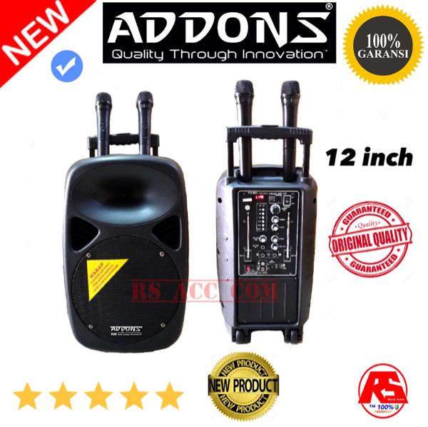 harga Speaker portable pa addons 12 inch dua mic pegang wireless Tokopedia.com