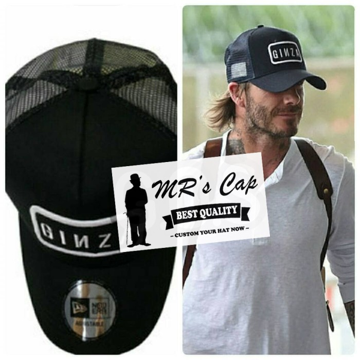 Jual TOPI TRUCKER JARING GINZA DAVID BECKHAM IMPORT HIGH QUALITY ... 77a19b6189a