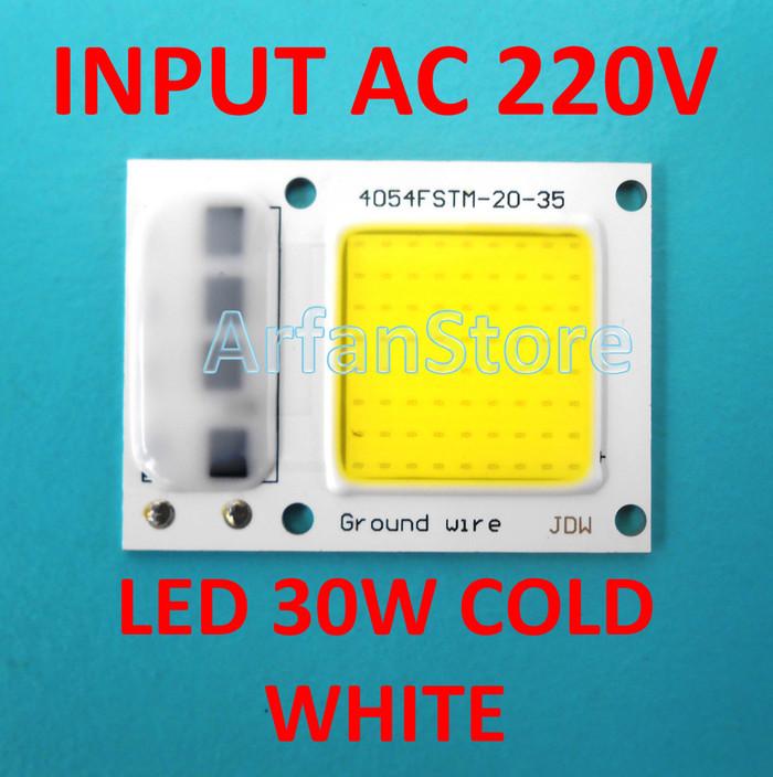 ... harga Input ac 220v high power led 30w cold white hpl putih tanpa driver Tokopedia